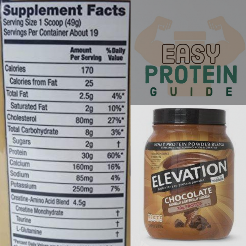 elevation protein powder review nutritional facts