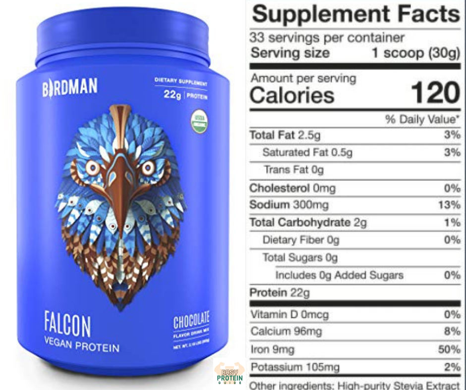 birdman falcon vegan costco protein powder