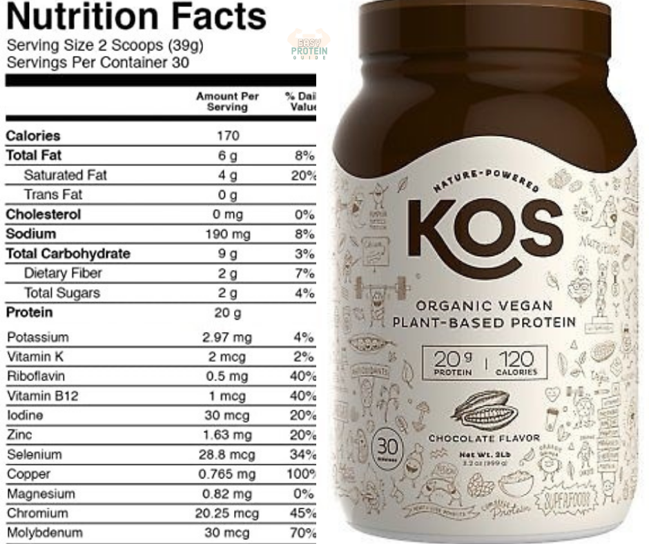 KOS Organic Plant Based Costco Protein Powder