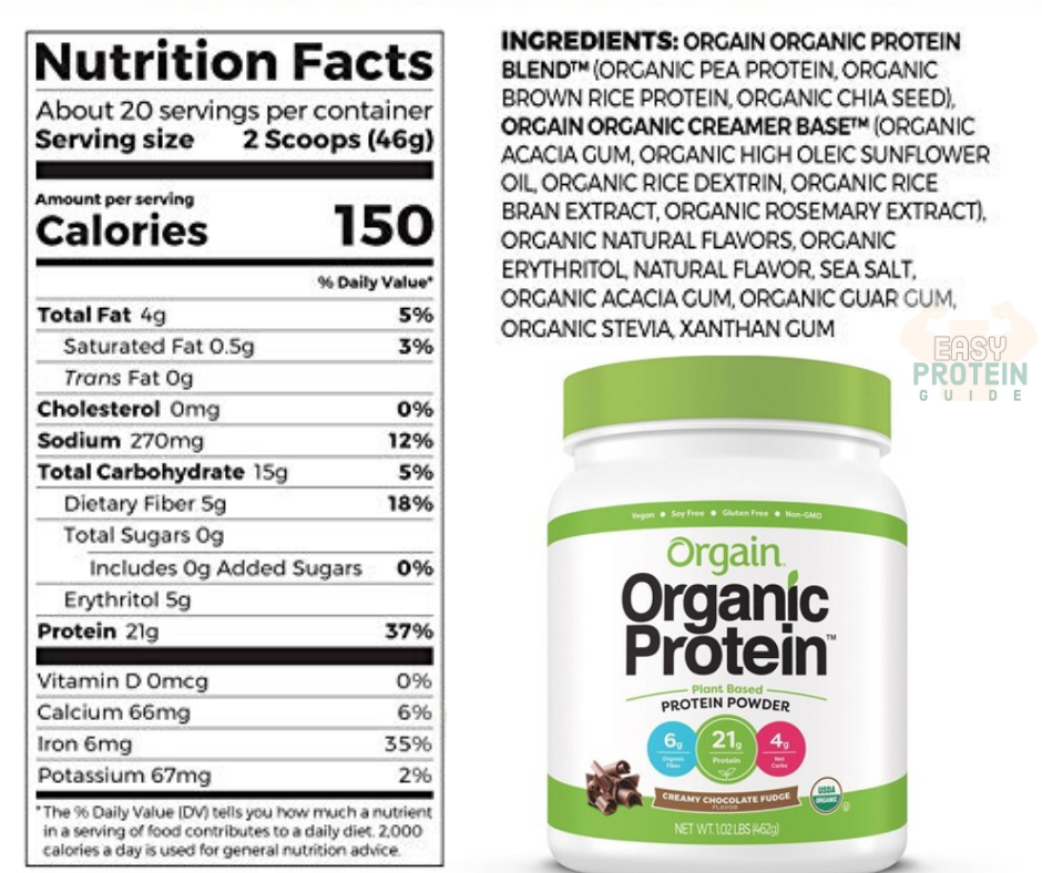 Orgain Organic Costco Protein Powder Supplement