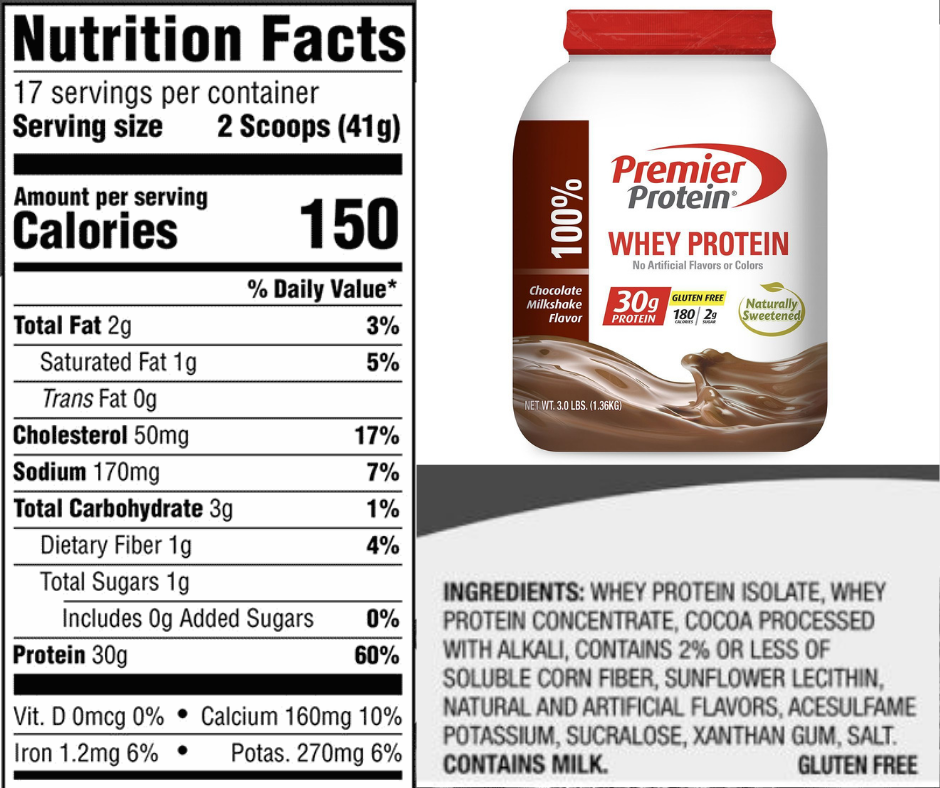 premier protein powder ingredients